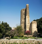 image of maidens tower in baku in azerbaijan