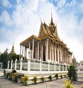 image of silver pagoda in phnom penh in cambodia