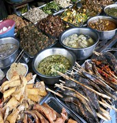 image of street food in phnom penh in cambodia