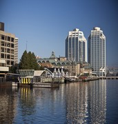 image of landscape of the halifax waterfront in canada
