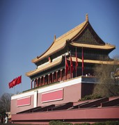 image of tiananmen building in beijing in china