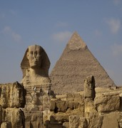 image of giza pyramids in cairo in egypt