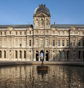 image of the louvre in paris in france