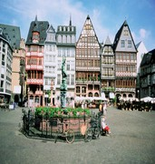 image of the romerberg square in frankfurt in germany