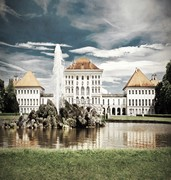 image of schloss nymphenburg in munich in germany
