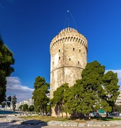 image of white tower of thessaloniki in greece