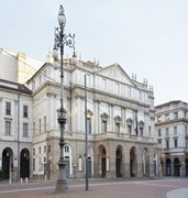 image of la scala in milan in italy
