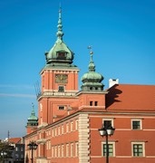 image of royal castle in warsaw in poland