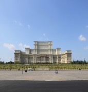 image of parliament palace in bucharest in romania
