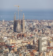 image of la sagrada familia in barcelona in spain