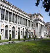 image of the museo del prado in madrid in spain