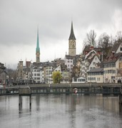 image of view of zurich in switzerland