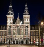 image of rijksmuseum in amsterdam in the netherlands