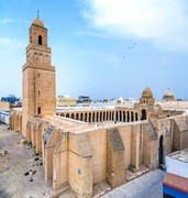 image of zitouna mosque in tunis in tunisia