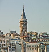 image of galata tower in istanbul in turkey