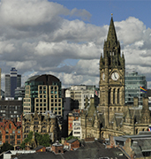 image of manchester skyline in uk