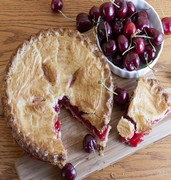 image of golden cherry pie in fort lauderdale in usa