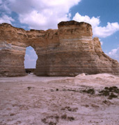 image of kansas monument rocks in kansas in usa