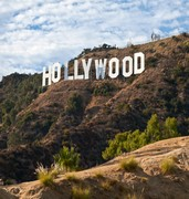 image of hollywood sign in los angeles in usa