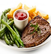 image of dish of steak in washington in usa