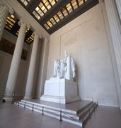 image of lincoln memorial in washington in usa