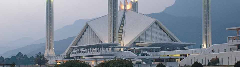 image of shah faisal mosque in islamabad in pakistan