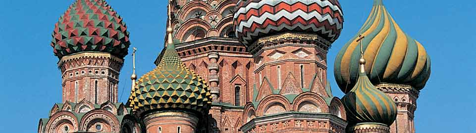 image of saint basils cathedral in moscow in russia