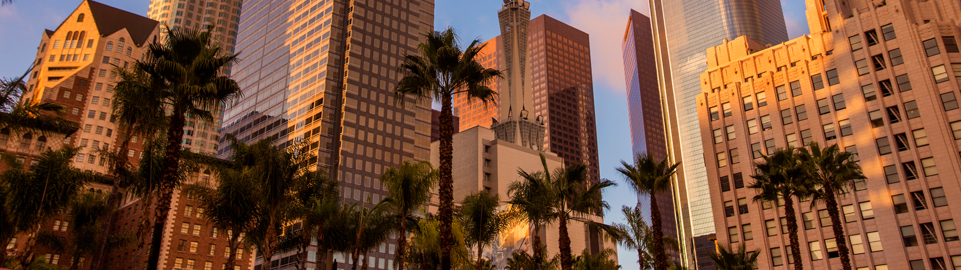 image of los angeles down town in usa