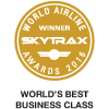 Winner, Skytrax World Airline Awards 2016 - World's Best Business Class