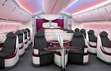 Qatar Airways Boeing 787 Business Class Interiors