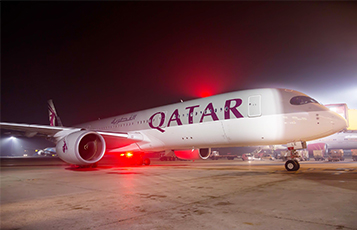 Qatar Airways' first daily regularly-scheduled Airbus A350 service to London Heathrow arrived in the United Kingdom on Sunday 30 October
