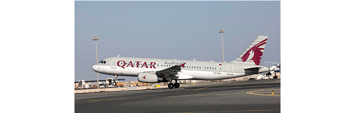 The Doha - Abha route will be operated by an Airbus A320