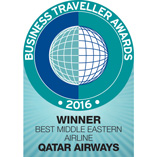 BUSINESS TRAVELLERS ANNOUNCE QATAR AIRWAYS AS BEST BUSINESS CLASS AND MIDDLE EASTERN AIRLINE