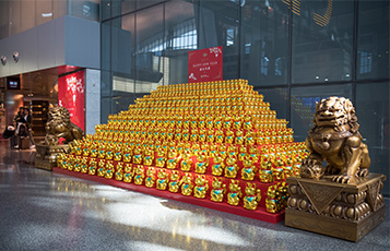 The Chinese New Year inspired installation, and decorations in HIA, allow QDF to share in the spirit of the holiday season with travellers