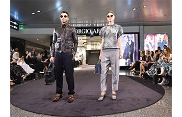 Passengers at Hamad International Airport enjoyed a live catwalk showcase of the Giorgio Armani Autumn/Winter 2015/16 collection