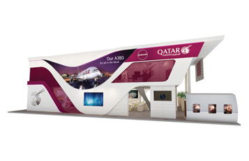 Visitors to ITB Berlin are invited to explore and interact with Qatar Airways' innovative new stand