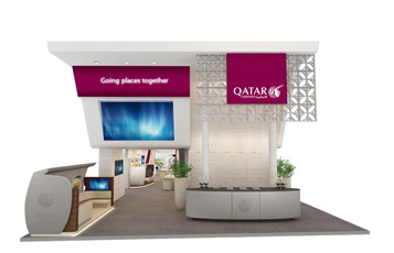 Qatar Airways will unveil exciting holographic 3D technology on its new exhibition stand