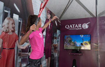 Qatar Airways' interactive tennis game allows visitors to participate in their own tennis tournament