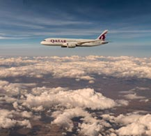 Image of an A7-BCR Qatar Airways Boeing 787-8 Dreamliner.