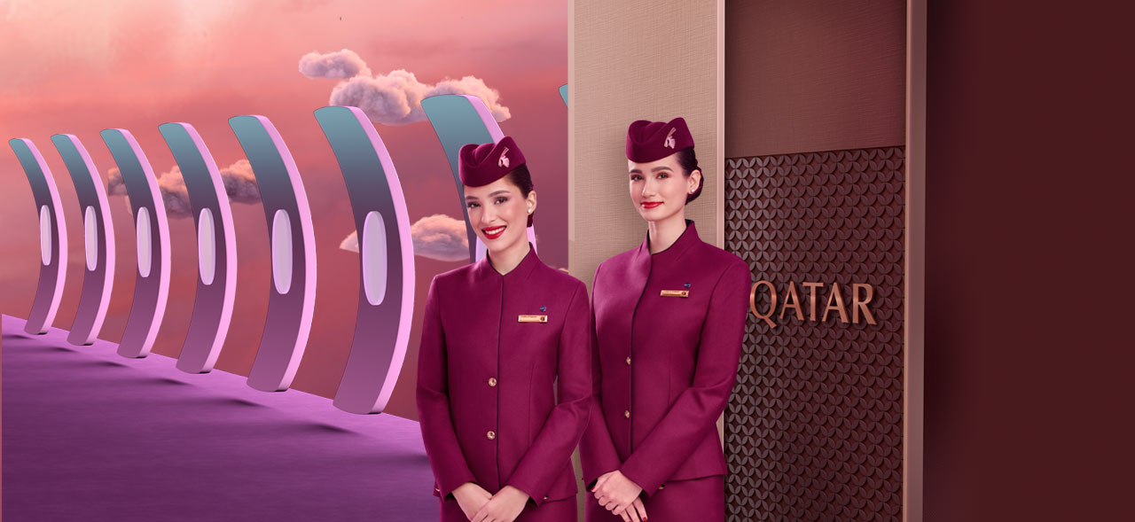 Image of Cabin Crew Smiles in Qsuite