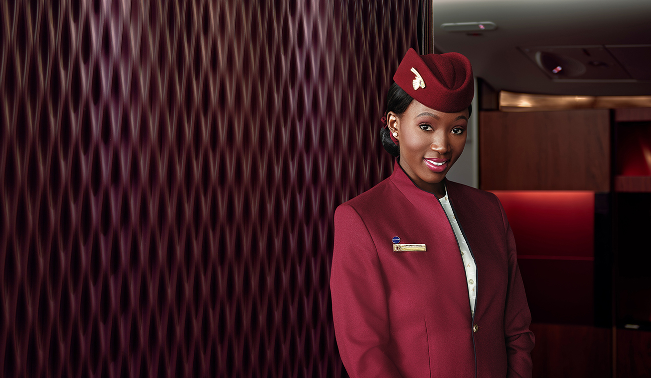 Image of African female cabin crew
