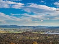 Image of the panoramic view of the Mt Ainslie Short in Canberra, Australia.