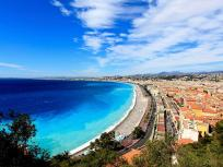 Image of a beach in Nice, France