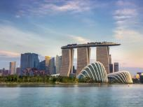 Image of the Marina Bay Sands hotel at the marina bay area in Singapore.