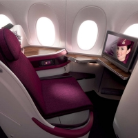Image of  Qatar airways Airbus 350 business class seat